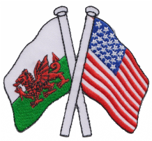 Wales & United States of America USA Friendship Embroidered Patch A178